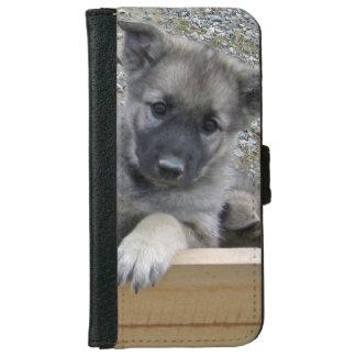 Cute Norwegian Elkhound Puppy iPhone 6/6s Wallet Case