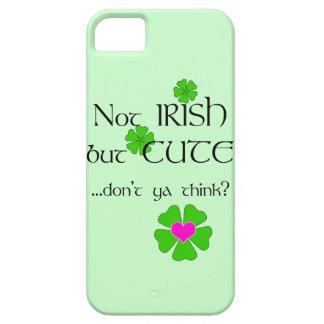Cute Not Irish Humor-Green Shamrock+Pink Heart iPhone 5 Cases