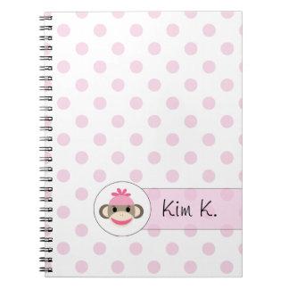 Cute Notebooks By The Sock Monkey Shoppe