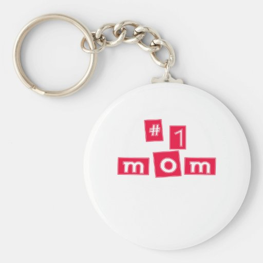 "Cute, ""Number 1 Mom"" Key Chain"