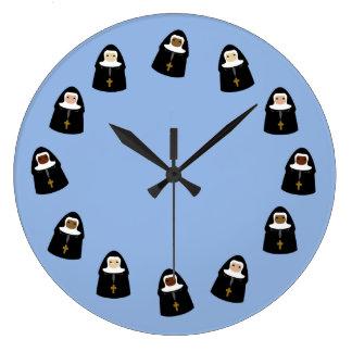 Cute Nuns Wall Clocks