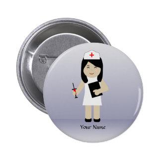 Cute Nurse 2 Custom Button