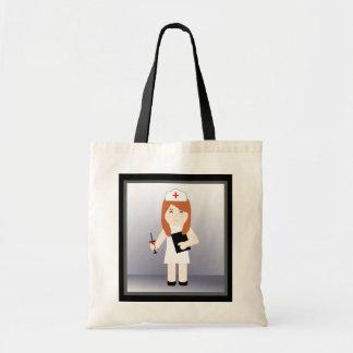 Cute Nurse 5 Budget  Tote Bag