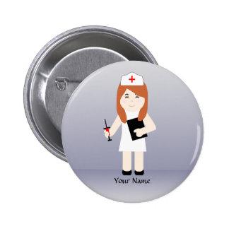 Cute Nurse 5 Custom Button