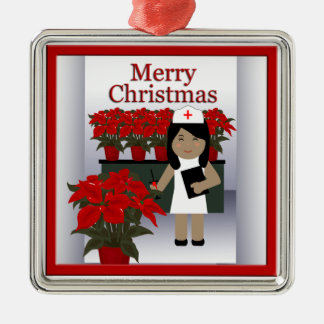 Cute Nurse Christmas Premium Ornament 1