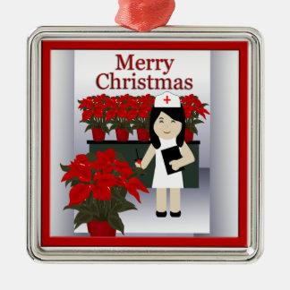 Cute Nurse Christmas Premium Ornament 2
