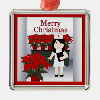 Cute Nurse Christmas Premium Ornament 3