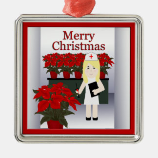 Cute Nurse Christmas Premium Ornament 4