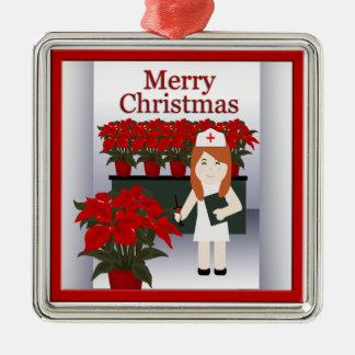 Cute Nurse Christmas Premium Ornament 5