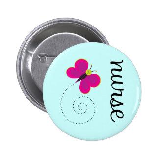Cute Nurse Magnet Pinback Button