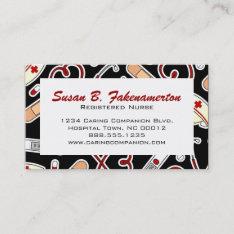 Medical and healthcare business card templates cute nurse or caregiver business card at zazzle colourmoves
