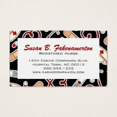 Cute Nurse or Caregiver Business Card at Zazzle