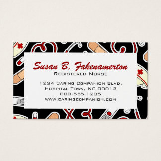 Cute Nurse or Caregiver Business Card