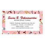 Cute Nurse or Caregiver Pink Business Card