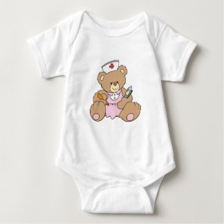 Cute Nurse RN Bear Baby Bodysuit