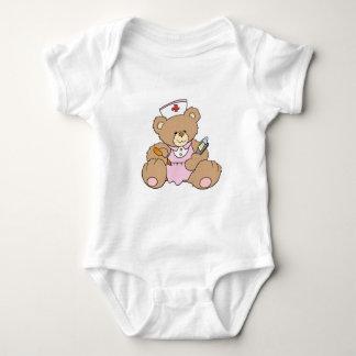 Cute Nurse RN Bear Baby Bodysuit