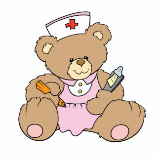 Cute Nurse RN Bear Cutout