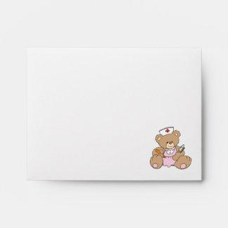 Cute Nurse RN Bear Envelope