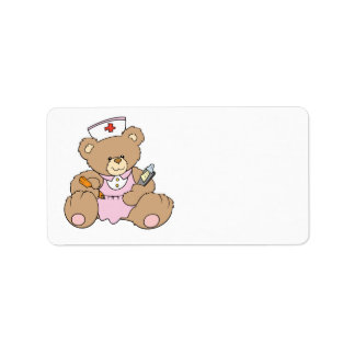 Cute Nurse RN Bear Label