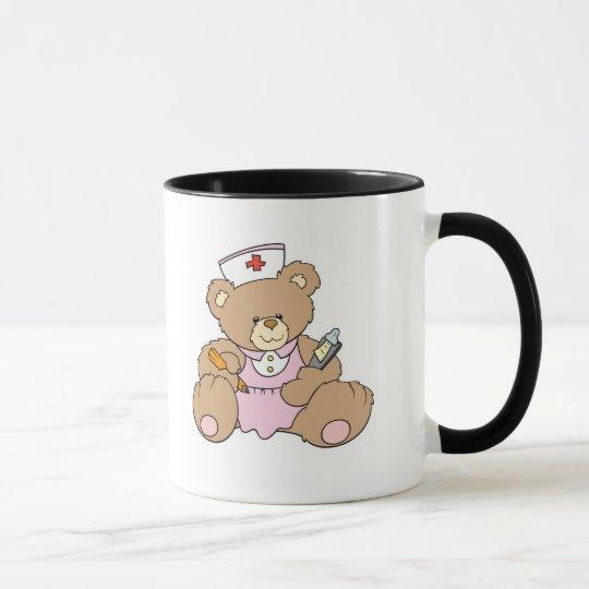 Cute Nurse RN Bear Mug