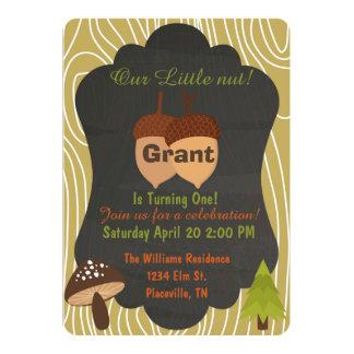 Cute Nut Woodland birthday party invitation 5