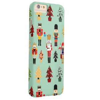 Cute Nutcrackers and Christmas Trees Barely There iPhone 6 Plus Case