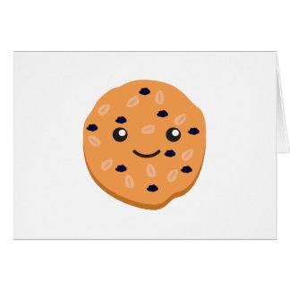 Cute Oatmeal Raisin Cookie Card