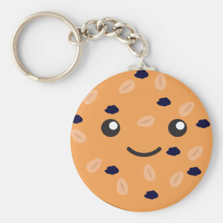 Cute Oatmeal Raisin Cookie Keychain