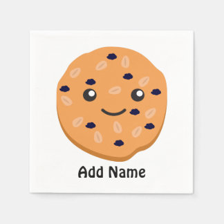 Cute Oatmeal Raisin Cookie Paper Napkin