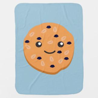 Cute Oatmeal Raisin Cookie Swaddle Blanket