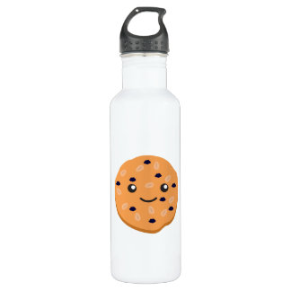 Cute Oatmeal Raisin Cookie Water Bottle