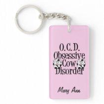 Cute Obsessive Cow Disorder Keychain