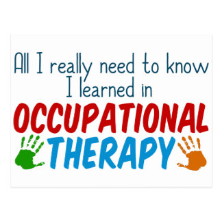 Cute Occupational Therapy Handprints Postcard