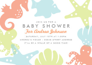 Ocean theme baby shower invitations zazzle cute ocean critters baby shower invitation filmwisefo