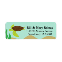 Cute Ocean Honu Sea Turtle Label