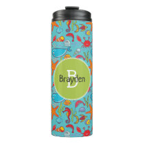Cute Ocean Sea Life Fish Pattern Personalized Thermal Tumbler