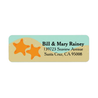 Cute Ocean Starfish Label