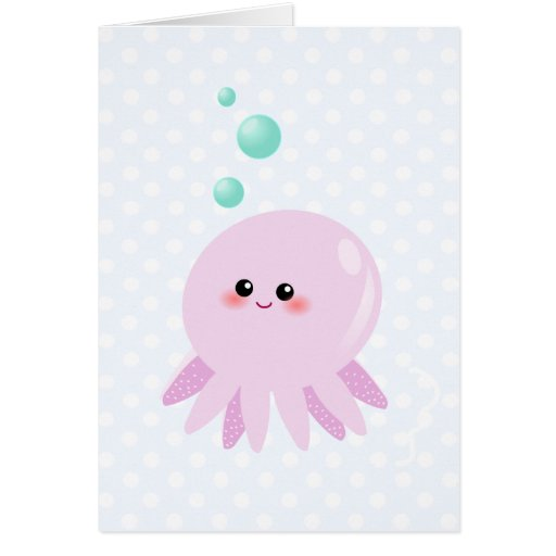Cute octopus cartoon card