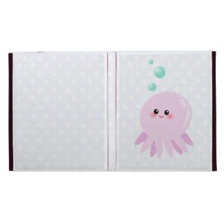 Cute octopus cartoon iPad folio cases
