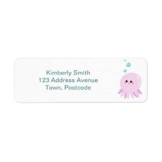 Cute octopus cartoon labels