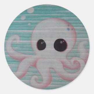 Cute Octopus Classic Round Sticker
