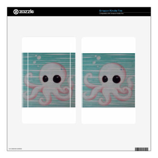 Cute Octopus Decals For Kindle Fire
