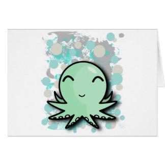 cute octopus design greeting card