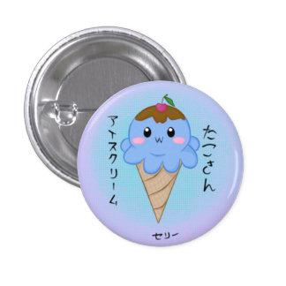 Cute Octopus Ice Cream Cone Button