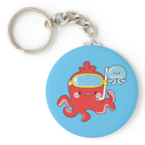 Cute Octopus Keychain