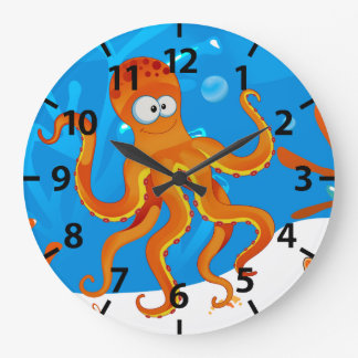Cute Octopus Ocean Aquatic Wall Clock