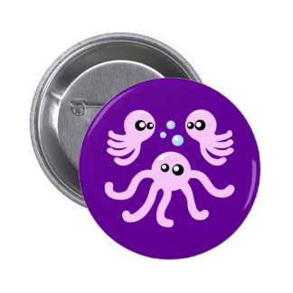 Cute Octopus Pinback Button