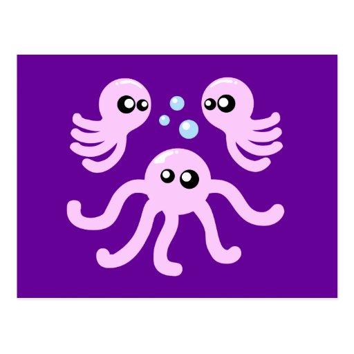 Cute Octopus Postcards