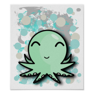 cute octopus poster