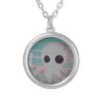 Cute Octopus Silver Plated Necklace